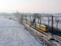 Fotosonderfahrt 01/2006. TW 56 auf dem Weg zurück zum Betriebshof. (28. Januar 2006)