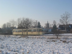 Fotosonderfahrt 01/2006. Tw 215 vor Traumkulisse: Wahlwinkel. (28. Januar 2006)