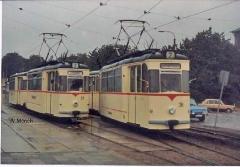 Triebwagen 37 jetzt im Vordergrund. (Sommer 1990)