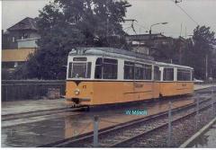 Triebwagen 43 im Blickpunkt. (Sommer 1990)