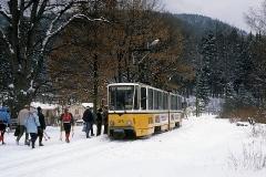 Rückfahrt nach Gotha. (Februar 1991)