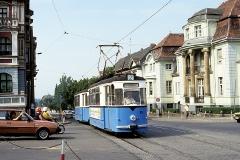 Nochmals der blaue Zweiachserzug. (August 1991)