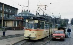 TW 215 (noch im Planeinsatz) | Hauptbahnhof | 12.04.1990 | (c) H. Männel