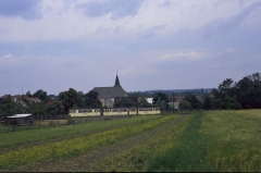 Gotha-Zug vor der Kirche von Sundhausen 12.07.1987