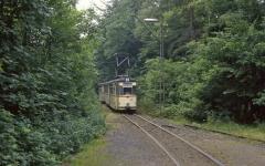 An der Haltestelle Reinhardsbrunn Teiche waren die Weichen zum Kreuzungsgleis damals schon ausgebaut. Von hier war es nicht weit zu unserer