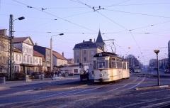 Abzweig Huttenstraße am 17.03.1990.