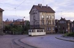 """In die Gegenrichtung fiel im Juli 1987 der Blick auf unseren """"Lotha"""" und das Gothaer Schloss. Wer hat denn die Bausünde in der Sichtachse genehmigt?"""