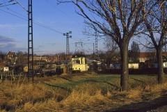 Der Nachschuss an der Stelle, wo sich heute das Gleisdreieck Richtung Krankenhaus befindet.