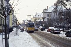 Die Bogestra-Zweirichtungswagen ermöglichten es, die Linie 1 bis Sundhausen zu verlängern. Mit der Eröffnung der Neubaustrecke zum Krankenhaus konnten
