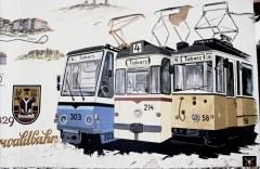 Tabarz 05.09.1990 Gemälde am Unterstand - Endstelle | (c) PvCC