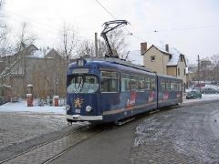Der Braugoldzug TW 408 erklimmt den Nelkenberg. (c) Kutting