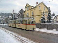 TW 215 in der Ortsdurchfahrt Waltershausen (c) Kutting