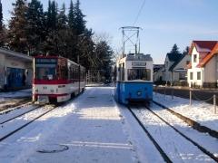 Tw 308 und HTw 39, Tabarz, 21.01.2011, (C) Schneider
