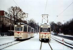 Historischer Zug 43-93 und ATw 47, Gotha Hbf, 29.01.2005 (C) Schneider