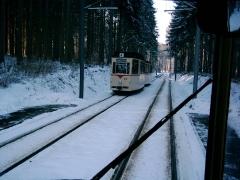 Historischer Zug 43-93, Hst. Marienglashöhle, 28.01.2006, (C) Schneider