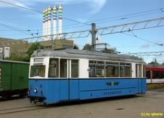 Tradition .. blau/weiß, die einstige Farbe der Straßenbahn in Gotha, TW39 (c) sphenix