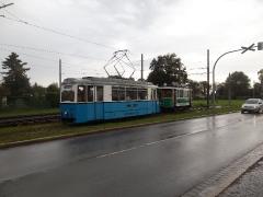 Tw 39 und Tw 7 (SVZ), Einfahrt Betriebshof, 19.09.2014, (C) D. Kirchberger