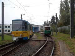 Tw 316+309, Tw 7 (SVZ), Betriebshof TWSB, 20.09.2014, (c) D. Kirchberger