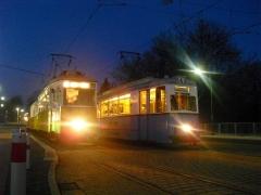 Historischer Zug 56-82-101 und HTw 39, Gotha Hbf, 21.01.2011