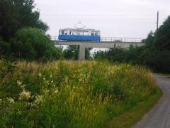 HTw 39 auf der Brücke am Waltershäuser-Gleisdreick, 25.06.2011