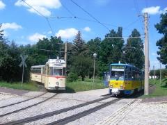 Tw316 und HTw 215, Waltershausen Bf., 16.07.2011