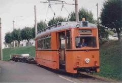 Atw 38 mit Spurmeßwagen Waltershausen Bhf. 7.10.1997