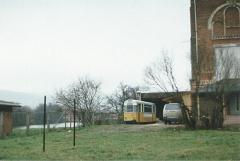 Tw 210 ex Gotha Mittel-u.B-Teil,alte Brauerei Ilmenau 28.11.1994