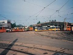 Betriebshof am Jubiläumsmorgen. (2.5.1994)