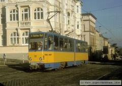Triebwagen 301, Gotha 301 - KT4D mod., Aufnahmeort: Friedrichstr., Hersteller: CKD, 1981 (Serie 301-304), (26.02.2000)