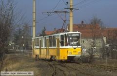 Triebwagen 306, Gotha 306 - KT4D, Aufnahmeort: Gleisdreieck, Hersteller: CKD, 1982 (Serie 305+306), (22.05.1990)