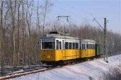 Tw 56, Bw 82 und Gpl 101 am Boxberg. (Foto-Sonderfahrt 29.1.2005)