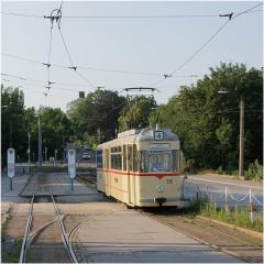 Letzte Befahrung Wendeschleife Hbf. Tw 215. (19.7.2007)