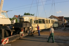 Verladung Tw 320 auf Privatgrundstück i. Walthershausen 5/5 (31.06.2006)