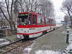 Triebwagen 309 in Leina. (28. Dezember 2004)