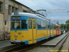 Triebwagen 592, der ex - Bochumer auf den Gleis neben TW 47 und TW 320. (12.9.2004)