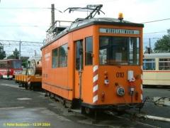 Arbeitstriebwagen 10, hier noch mal frontal. (12.9.2004)