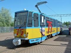 KT4D 306 mit Werbung für 75 Jahre Waldbahn