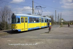 Triebwagen 528. Ex BOGESTRA. (10. April 2002)