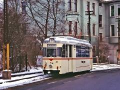 TW 47 nochmals auf der ehemaligen Linie 3. (29. Januar 2005)