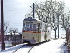 TW 215 verlässt Sundhausen Richtung Boxberg. (29. Januar 2005)