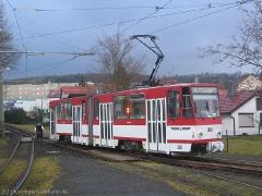 TW 308 am Gleisdreieck Walterhausen.