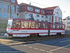 Triebwagen 312 in der Gartenstraße. (15. Januar 2005)