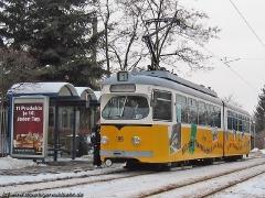 Triebwagen 395 an der Halstestelle Wagenhalle. (31. Januar 2005)