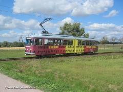 Triebwagen 396 auf dem Weg nach Wahlwinkel. (12. September 2004)