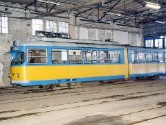 Triebwagen 401 in der Wagenhalle. (29. Januar 2005)