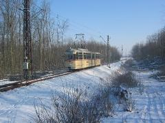 Fotosonderfahrt 01/2006. TW 215 am Boxberg. (28. Januar 2006)