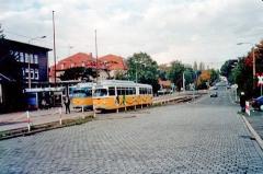 Triebwagen 395 am Hauptbahnhof. (14.10.2002)