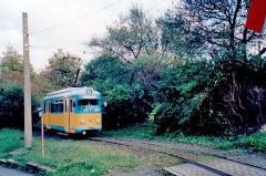 Triebwagen 401 in der Wendeschleife am Hauptbahnhof. (14.10.2002)