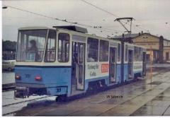 Triebwagen 301 in Gotha-blau. (Sommer 1990)