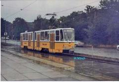 Triebwagen 306 in Waldbahn-gelb. (Sommer 1990)
